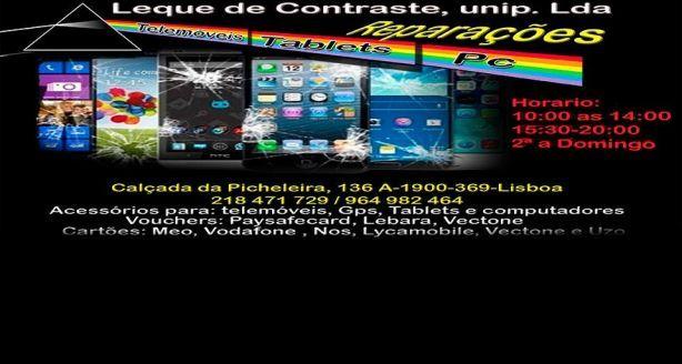 Foto 2 de Leque de Contraste, Unipessoal, Lda - Reparação de Telemóveis, PC e Tablets